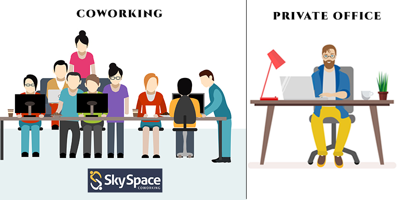 Choose Sky Space Coworking over private office space