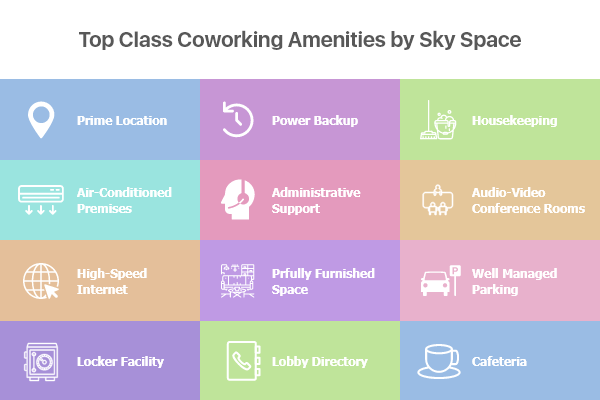 Amenities by the Sky Space Offices
